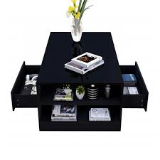 modern rectangle black high gloss