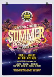 Beach Flyer Summer Beach Party Event Flyer Hollymolly