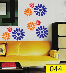 orange designer pvc wall stencil