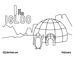 Small Picture Igloo Coloring Pages Printable Panda Gekimoe 53318
