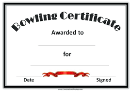 Fillable Certificates Bowling Certificate Certificates Free Fillable Tech Potter