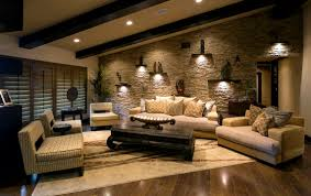 ... Mesmerizing Images Of Living Room Decoration With Various Stone Living Room  Wall : Heavenly Classic Living ...