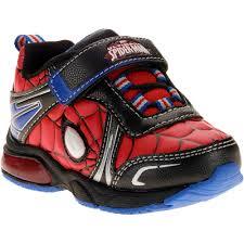 Toddler Boy Light Up Sandals Spiderman Toddler Boys Lighted Athletic Shoe Walmart Com