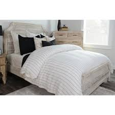 monaco ivory stripe linen king duvet coverv  the home depot