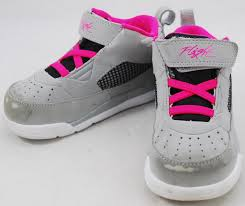 nike 8c. baby nike air jordan shoes toddler girls size 8c flight pink grey 684898-016