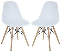 modern chair plastic. Pyramid Dining Side Chairs Set Of 2 In White Modern Plastic Chair