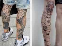 Tetování Na Noze Tetování Mužského A ženského Pohlaví Na Noze Foto