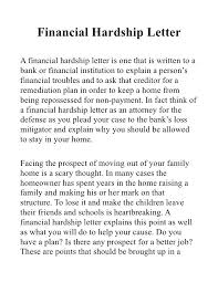 hardship sample letter how to write a hardship letter for home loan modification