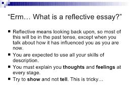 reflective essay define reflective essay