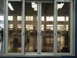 factory aluminum sliding glass door with stainless steel net mesh