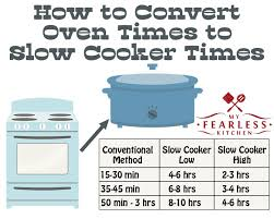 Slow Cooker To Pressure Cooker Conversion Chart How To Convert Oven Times To Slow Cooker Times My Fearless
