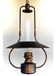 hanging oil lamp aged brass