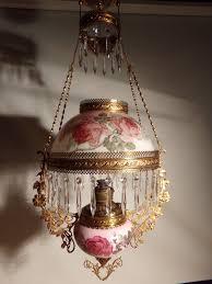 Ebay Light Fixtures All Original Antique Miller Hanging Oil Lamp Ebay