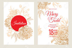 Wedding Invitation Set Templates Wedding Invitations Set Templates Decoration Cards With Garden