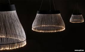 black fiber optic ceiling lamp