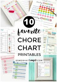 Somewhat Simple Chore Chart Simple Chore Chart Somewhat Simple Chore Chart