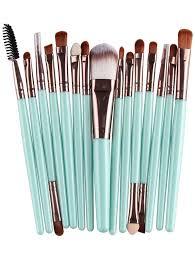 best stylish multifunction 15 pcs plastic handle nylon makeup brushes set