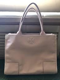 tory burch ella canvas leather tote women s fashion bags wallets handbags on carou