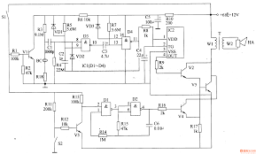 car alarm circuit page automotive circuits next gr motorcycle anti simple alarm circuit project at Sample Schematic Diagram For Alarm