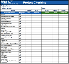 Project Checklist Project Checklist Template Word World of Example 1