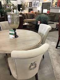 round light wood table with four light fabric chairs for in fountain valley ca offerup