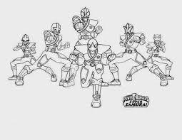 Gold Power Rangers Samurai Coloring Pages Power Rangers Super