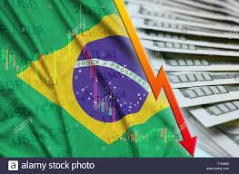 Brazil Real Currency Chart Brazil Flag And Chart Falling Us Dollar Position With A Fan