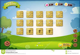 Free Design Games Game User Interface Design For Tablet Stock Vector