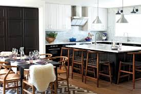 kitchen lighting ikea. Ikea Kitchen, White And Black Cabinets, Dark Dining Table, Stools, Stainless Steel Kitchen Lighting A