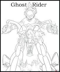 Ghost Rider Coloring Pages To Print Dr Schulz