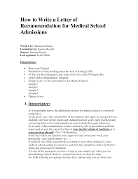 Ideas Of Sample Recommendation Letter For Medical Job In Download