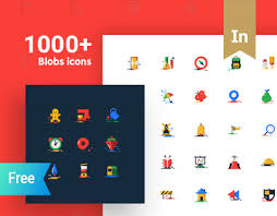 1000 free blobs flat icons with two styles on behance basic icons flat icons 1000
