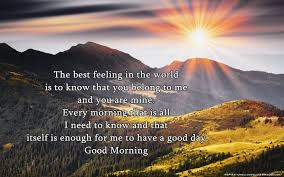 good morning es for her