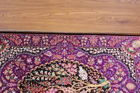3x2 purple qum persian rug signed qom carpet