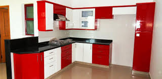 modular kitchen colors: innovative small modular kitchen decor inspirations contemporary red white and black color scheme small modular kitchen with tan ceramic tiles fl