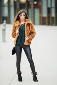 abercrombie faux fur coat nordstrom leather leggings rudy