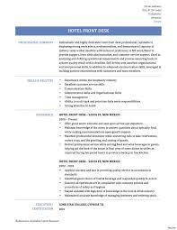 Sample Resume For Front Office Assistant In Hotels Best Front Desk ...