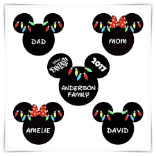 Mickey Christmas Lights Amazon Com Personalized Disney Inspired Christmas Magnet