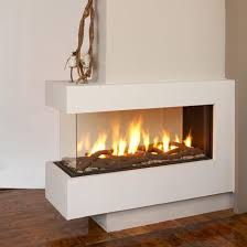 fantastic cool warm awesome nice adorable 3 sided gas fireplace with small glass design concept with white design for modern home home decor