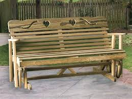 rocking bench outdoor outdoor rocking bench outdoor glider bench vintage decors warm and inviting outdoor wooden