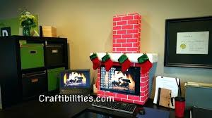 Office ideas for christmas Decorations Chimney Christmas Decoration Ideas Holiday Office Idea Fireplace Computer Cubicle Fun Decorations Home Interior Design Company Bradley Rodgers Chimney Christmas Decoration Ideas Holiday Office Idea Fireplace