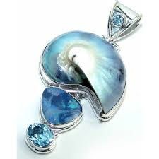 more views topaz silver pendant