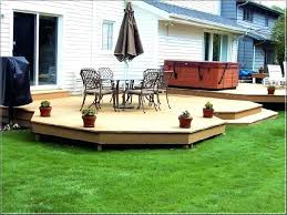 sheen backyard deck cost of building a exquisite decoration cute how much does n92