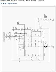 Wipers and washer system circuit wiring diagram 2007