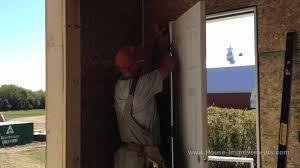 replacing a front doorHow To Install An Exterior Door  YouTube