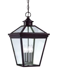 large outdoor pendant lighting.  pendant shown in english bronze finish and clear glass and large outdoor pendant lighting l