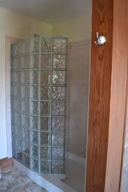 Glass block walk in shower kit with acrylic base and DIY interior shower  wall panels