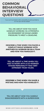 Behavior Based Interview Questions And Answers Best Answers To Common Behavioral Interview Questions