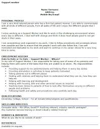 Support Worker Cv Example Icover Org Uk