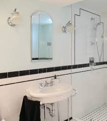 bathroom art deco wall sconce nouveau tiles lighting designs style lights accessories bathroom with post